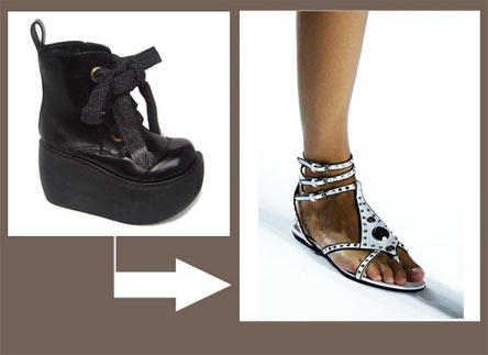 从松糕鞋到平底鞋