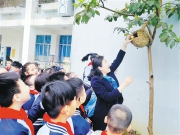 """南宁市滨湖路小学开展""""童趣廊""""种植活动"""