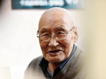 这是彭云松老人(2016年3月22日摄)。新华社记者 王建威 摄.jpg