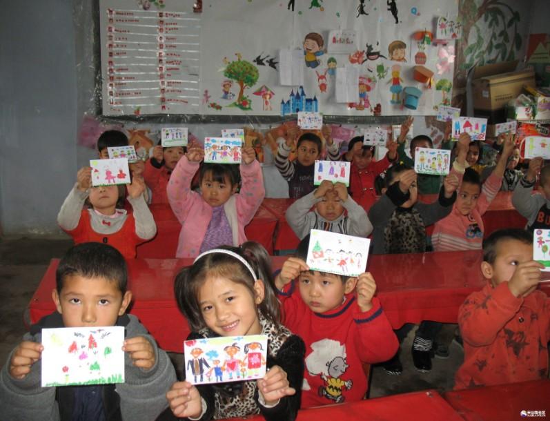 [新疆]博湖乌兰乡幼儿园开展感恩主题教育活动